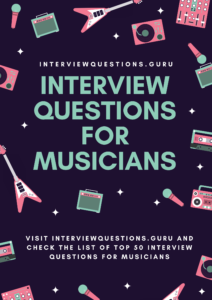 Musician interview questions Infographics