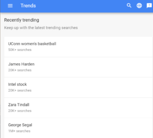 google trends | SEO interview questions