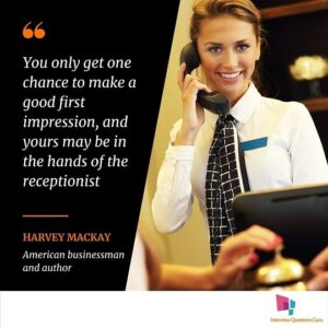quotes about receptionist