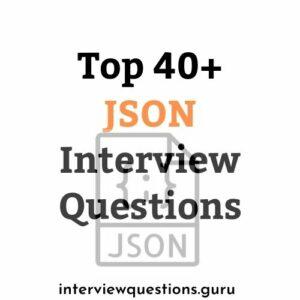 json interview questions
